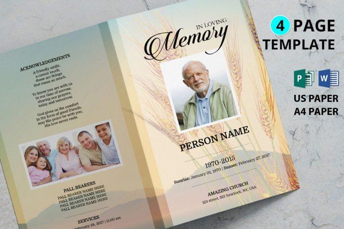 Memorial Service Program