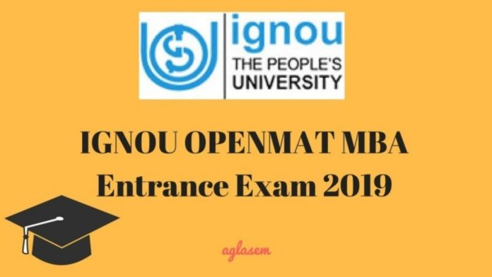 IGNOU MBA Admissions 2019: OPENMAT XLIV, Dates, Application Form