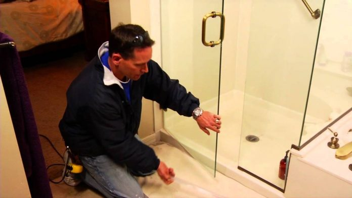 shower door glass replacement