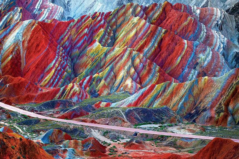 Rainbow Mountains of Zhangye Danxia