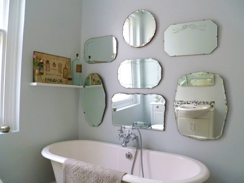 Hang a vintage style mirror