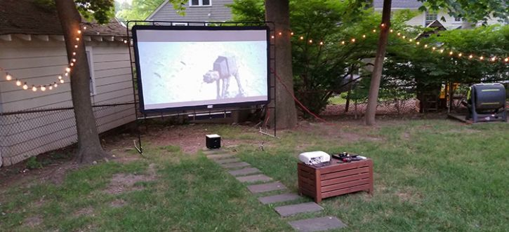 Set up an outdoor theatre