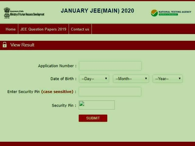Steps to check JEE Main Result vs JEE Advanced Result for 2020