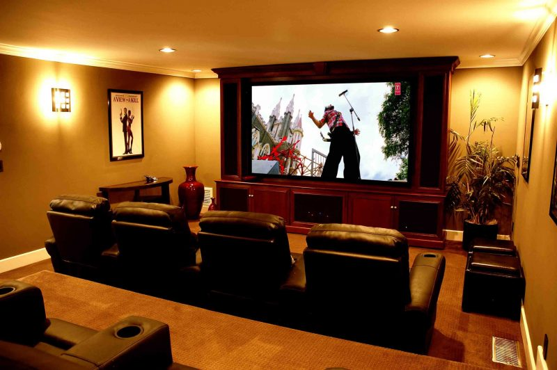 A CinemaRoom With Rustic Appeal