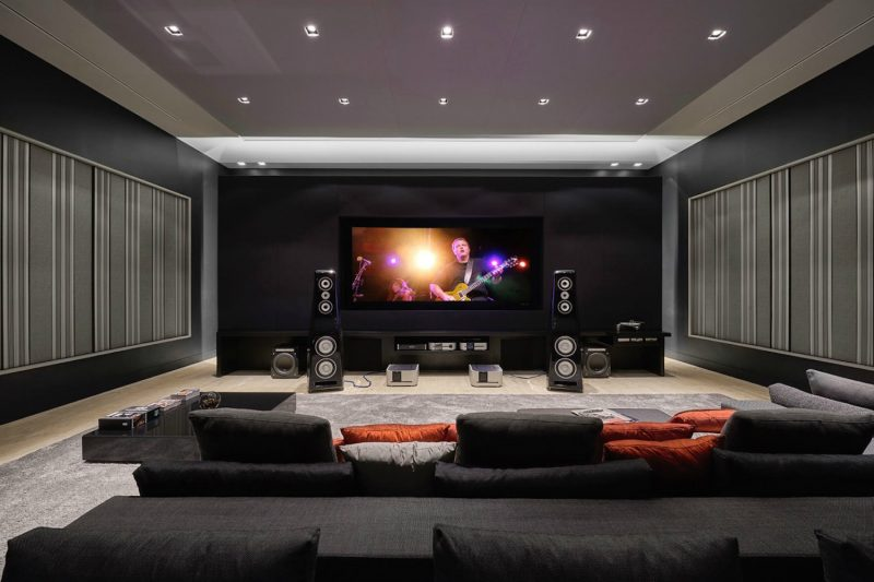 A Theater Room Designed for Professional Acoustics