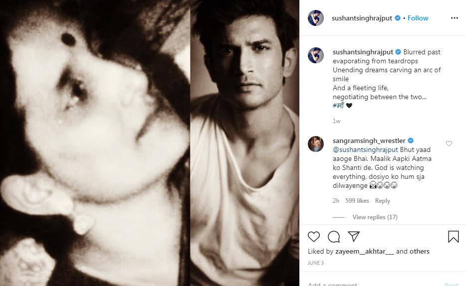 Sushant Singh Rajput's last Instagram post