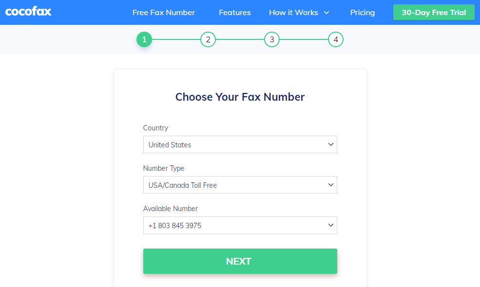 free fax number