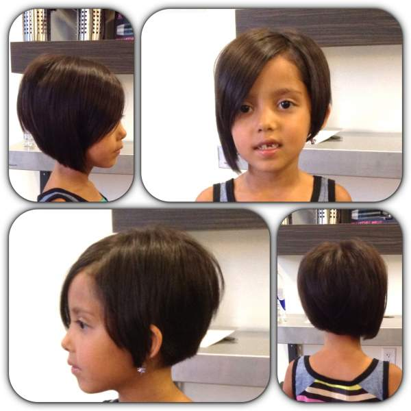 Asymmetrical Pixie haircut for girls