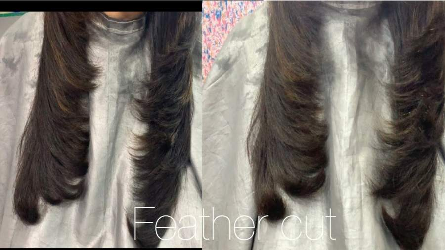Light feather haircut