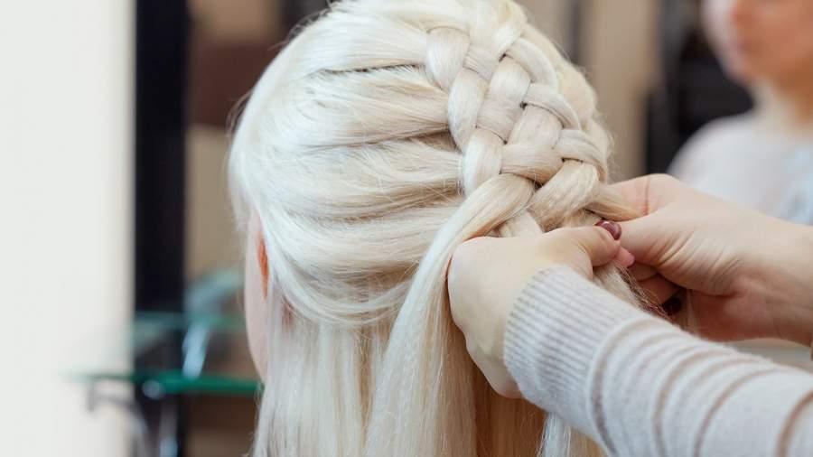 Multiple strand braid with a bun
